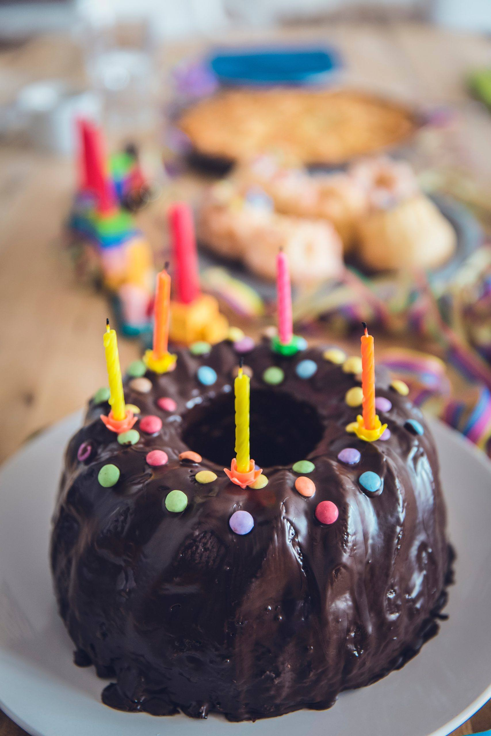 Birthday cake with candles (Photo by Markus Spiske from Pexels)